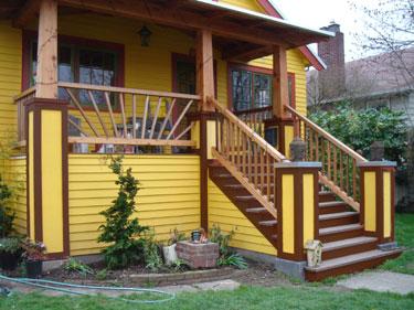Neighbor\'s house - brown trim