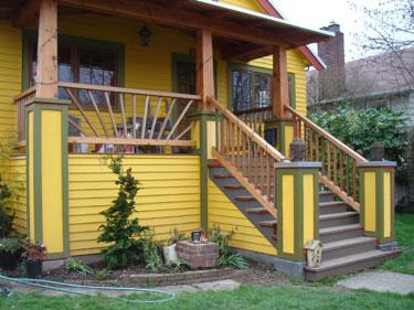Neighbor\'s house - olive trim 1