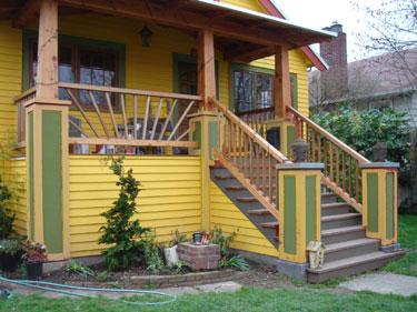 Neighbor\'s house - olive trim 2